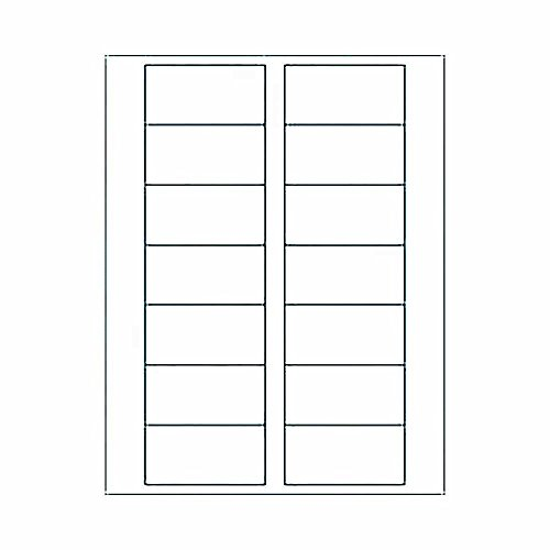 Blank Labels for Place Cards - Inkjet or Laser - Office Business Home School Paper Party Supplies (WHITE MATTE - INKJET AND LASER (MOST (Place Card Labels)
