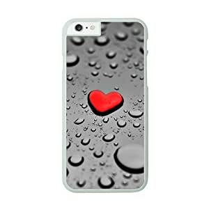 iPhone 6 White Cell Phone Case Heart Pattern KVCZLW2362 Phone Case Cover Durable Design