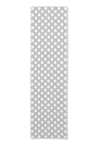 Heritage Lace Polka Dot Table Runner, 18 by 72-Inch, White