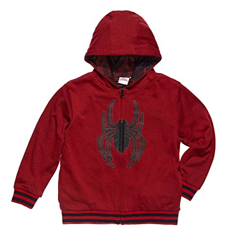 Character Youth Full Zip Hoodie (Spider-Man, Small)
