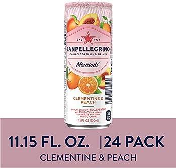 24-Pack San pellegrino Momenti Clementine & Peach Cans, 11.15 Fl Oz