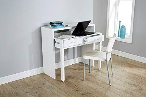 Blanco Escritorio Mesa de Consola Extensible Mesa de ...