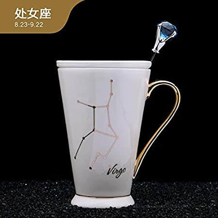 Creative Doce Constellation Water Cup Fashion Tracing Gold Decal ...