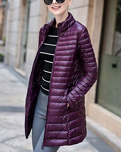 Viola Packable Lungo Rivestimento Outwear Caldo Ultraleggero Inverno Femminile Gladiolusa 8qE1dSn