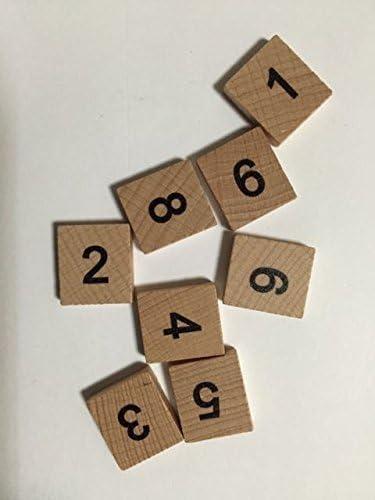 Fichas de Scrabble de Madera, números 0 – 9: Amazon.es: Hogar
