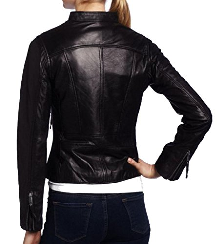 Leather Junction Para Chaqueta Mujer Negro rP7rq6x