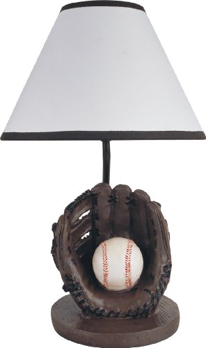 Milton Greens Stars Antique Resin Youth Baseball Table Lamp, ()