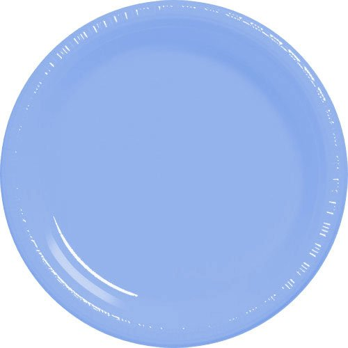 Amscan-Big-Party-Pack-50-Count-Plastic-Lunch-Plates-105-Inch-Pastel-Blue