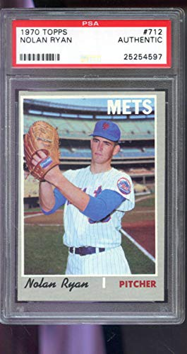 - 1970 Topps #712 Nolan Ryan New York Mets MLB PSA AUTHENTIC Graded Baseball Card
