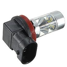 Zorvo 2x High Power LED Fog Light 60W H8 H11 White Samsung 2835 Driving Projector Bulb
