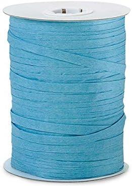 Paper Turquoise Raffia 100 yds 14 spools WRAPS-766TU