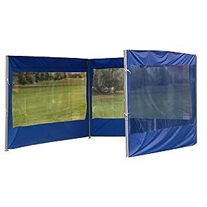 POHOVE Carpa de jardín Gazebo Carpa con Paneles de Lluvia y Viento, Accesorios de Carpa para Exteriores, Reemplazo de Tela Oxford Impermeable Anti UV, 3 * 3 m (Azul 9m, 3 Lados)
