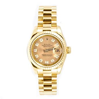 e3b8d513852 Amazon.com  Rolex Ladys President New Style Heavy Band 18k Yellow ...