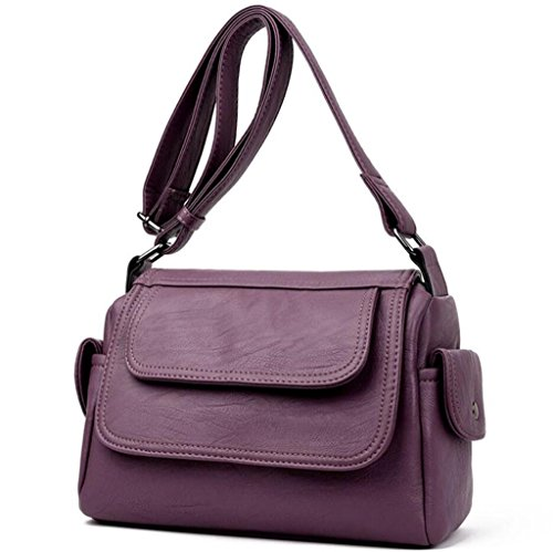 Sac Diagonal à Sac Bandoulière réglable bandoulière à Main Single SHOUTIBAO Simple purple Sweet Lady à Dos Sac g7wqSSd