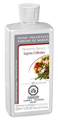 (Heavenly Spruce | Lampe Berger Fragrance Refill by Maison Berger | for Home Fragrance Oil Diffuser | Purifying and perfuming Your Home | 16.9 Fluid Ounces - 500 milliliters | Made in France)