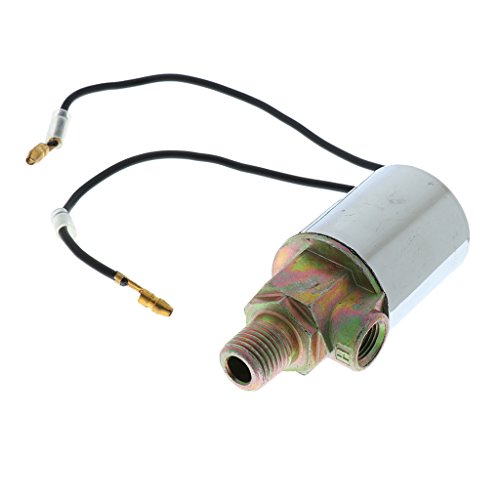 Horn Electric Chrome (Dovewill 12/24V Train Truck Air Horn Electric Solenoid Valve 1/4'' Barb Chrome)