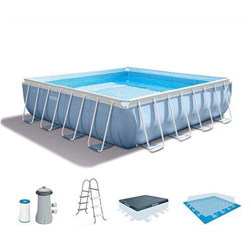 Intex 14 Feet x 42 Inches Prism Frame Swimming Pool Set -