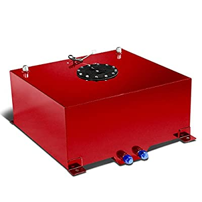 15-Gallon Aluminum Street/Drift/Strip/Racing Fuel Cell Red Gas Tank with Level Sender and Black Cap