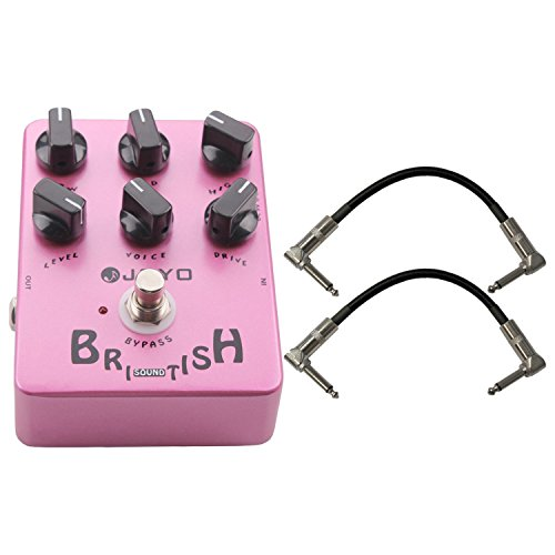 Joyo JF-16 British Sound Marshall Inspired Tone Pedal US Dealer w/ 2 Patch Cable