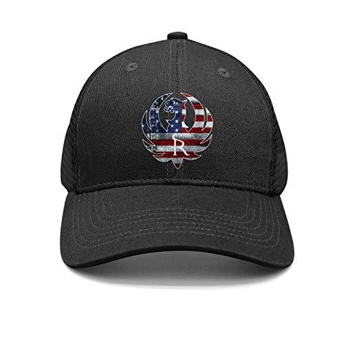 Unisex Casual Baseball Caps Sturm-Ruger-Logo- Style Adjustable Trucker Hat