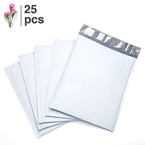 (FU Global #0 Poly Bubble Mailers 6x10 Inch Bubble Envelopes White Bubble Lined Poly Mailer 25pcs)