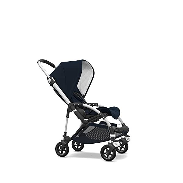 Bugaboo Bee5 Classic Complete Special-Edition Stroller, Alu/Dark Navy – Compact, Foldable Stroller for Travel and Urban…