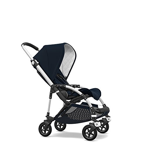 Bugaboo Bee5 Classic Complete Special-Edition Stroller, Alu/Dark Navy - Compact, Foldable Stroller for Travel and Urban Life