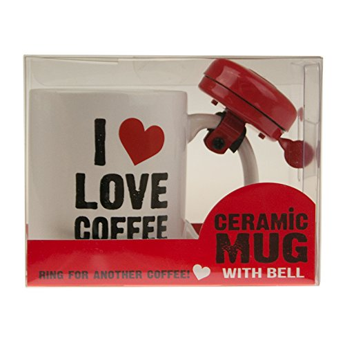 Ceramic Mug with Bell - I Love Coffee Unbranded
