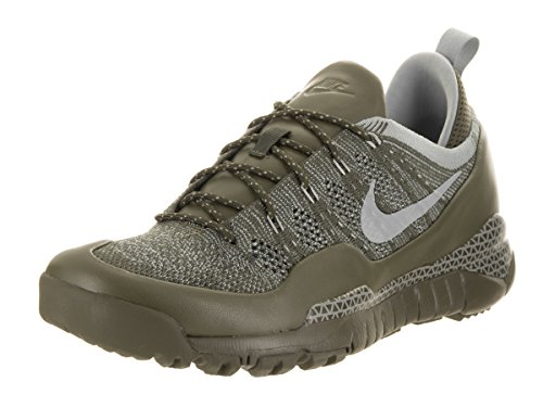 NIKE Men's Lupinek Flyknit Low Cargo Khaki/Mica Green Casual Shoe 11.5 Men US ()