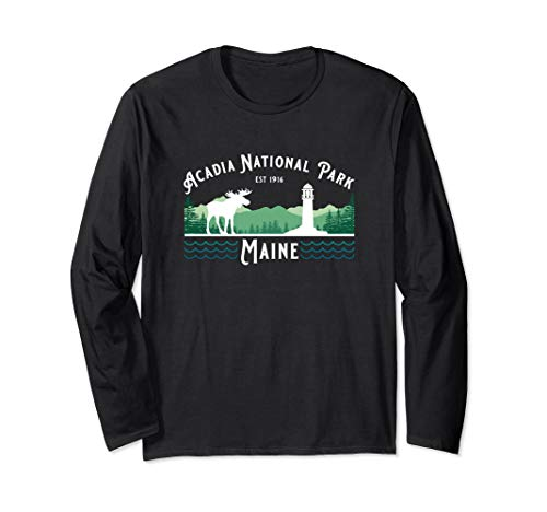 Acadia National Park Maine Souvenir Long Sleeve T Shirt (Best Deer Hunting In Maine)