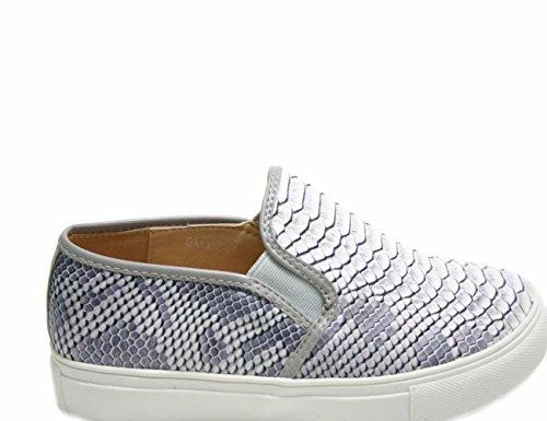 Justglam Gomma Ons Pitonato Slip In Ecopelle Donna Platform Scarpe Grigio Effetto Sneakers vwHIxvBr