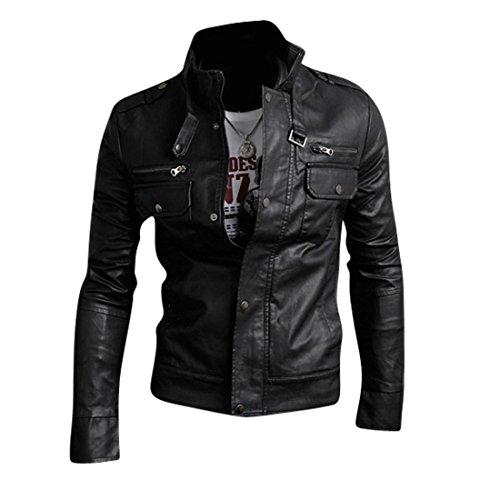 Cappotto Pelle Giacca Sottile Cappotti Black Design Uomo Inverno 8961 Capispalla Tendenza Jeansian Di Moda Uomini EYqPqzw