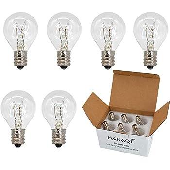 Wax Warmer Bulbs,20 Watt Bulbs for Middle Size Scentsy Warmers,G30 Globe E12 Incandescent Candelabra Base Clear Light Bulbs for Candle Wax Warmer,Long Last Lifespan 6 Pack