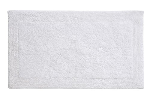 Grund Certified 100% Organic Cotton Reversible Bath Mat (B2575-1367032), Puro Series, 17-Inch by 24-Inch, White