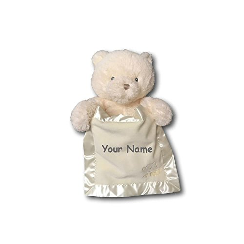 Personalized GUND Animated White Peek-A-Boo Teddy Bear Pl...