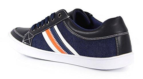 Zapatillas Low-top Giraldi Millad Para Hombre, De Color Azul Marino