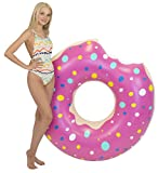 Kangaroo's Two-Bite 4' Giant Donut Inner Tube, Pool Float