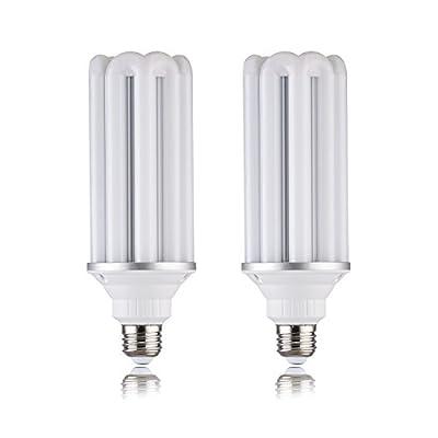 (2 Pack)28w LED Corn Bulb, Plant garage E26/E40/E39Base,3080 lumens,,Replace Compact energy-saving lampsCFL 45Watt/PS25 incandescent bulb 300Watt,5000k White, AC120VoitWall Light,Bollard,