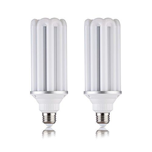 (2 Pack)28w LED Corn Bulb, Plant garage E26/E40/E39Base,3080 lumens,,Replace Compact energy-saving lampsCFL 45Watt/PS25 incandescent bulb 300Watt,5000k White, AC120VoitWall Light,Bollard, ()