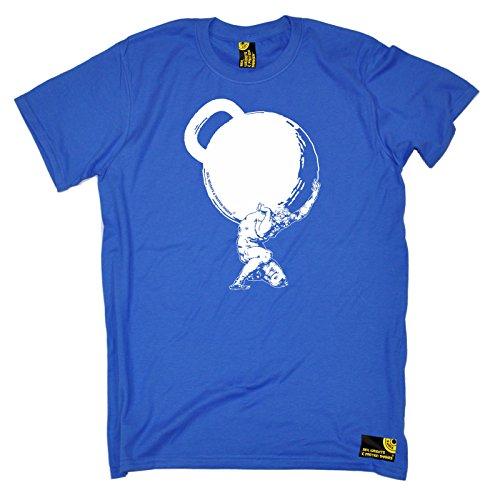 af78c88a SWPS - Men's Greek God Atlas Mythology Kettlebell Bodybuilding T Shirt  Exercise Fitness Tee Workout Top