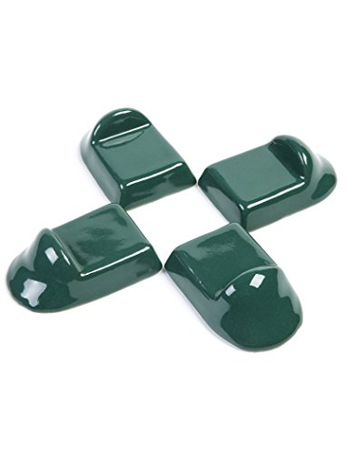 Ceramic Feet Accessories fit for Big Green Egg,SAROO Ceramic Grill Shoes for Large Green Egg ,Medium XL bge Base Parts Set of 4