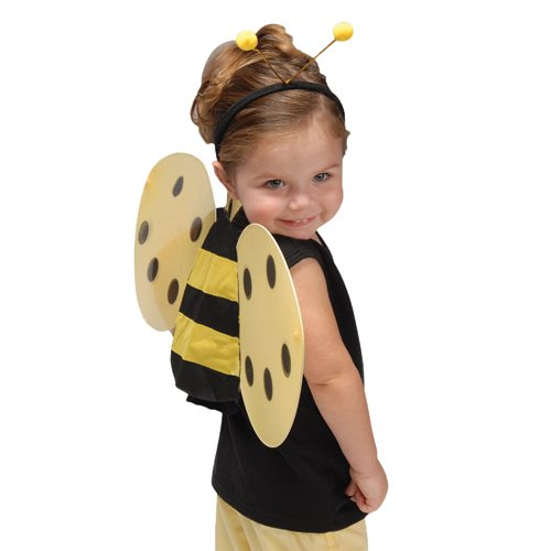 Child Size Honey Bee Wings and Antenna Costume (Honey Bee Costume For Kids)