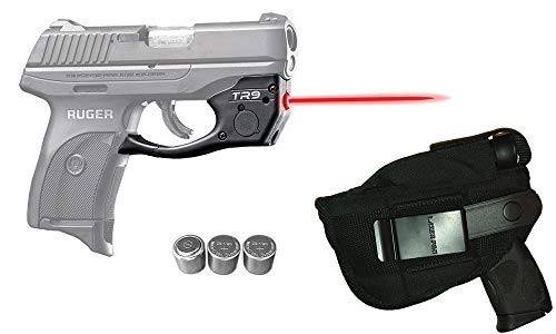 Laser Kit for Ruger LC9, LC9s, LC380, EC9s w/LASERPRO Holster, Touch-Activated ArmaLaser TR9 Red Laser Sight & 2 Extra Batteries