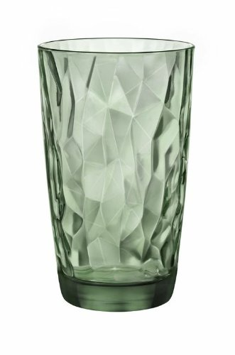 Bormioli Rocco Diamond Cooler Glasses  Forest Green  16 oz   (Large Image)