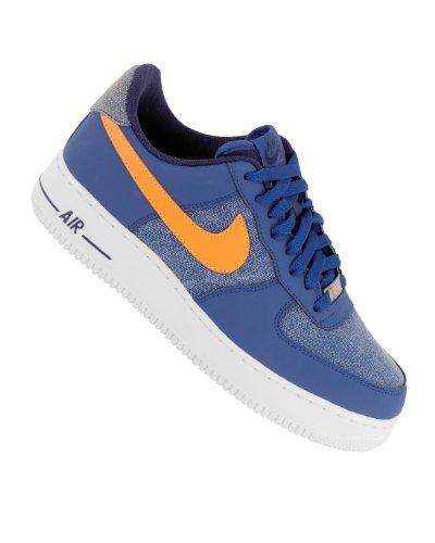 UPC 091209083895, Nike Air Force 1 , Stormblue/White-Vivid Orange Uk Size: 7.5