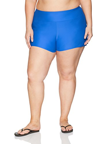 Coastal+Blue+Women%27s+Plus+Size+Swimwear+Short+With+Inside+Brief+Bottom%2C+Sapphire%2C+3X+%2824W-26W%29