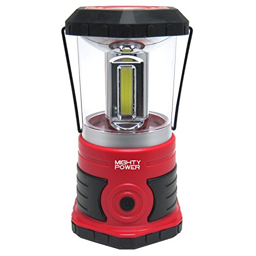 Price comparison product image Mighty Power Ultra Bright C.O.B. LED Lantern With Compass & Handle,  Water Resistant,  750 Lumens (Red-Black)