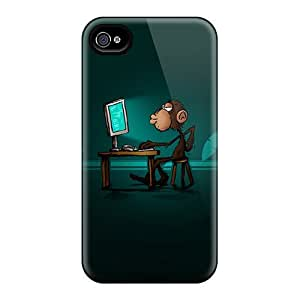 Durable Case For The Iphone 4/4s- Eco-friendly Retail Packaging(addicted Monkey)