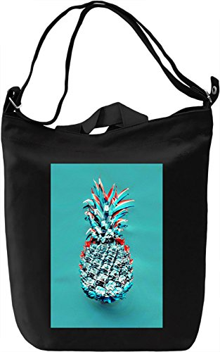 Psychedelic Pineapple Borsa Giornaliera Canvas Canvas Day Bag| 100% Premium Cotton Canvas| DTG Printing|