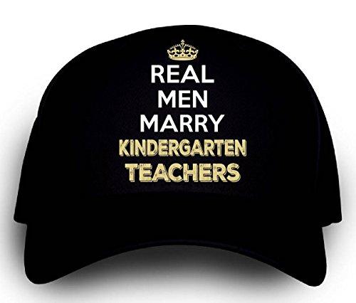 Teacher Trucker Hat (Real Men Marry Kindergarten Teachers. Cool Gift -)